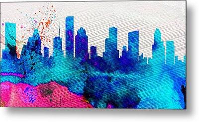 Houston City Skyline Metal Print by Naxart Studio