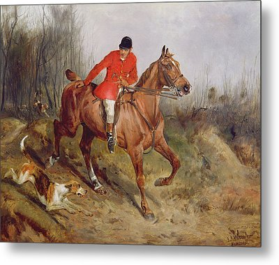 Hunting Scene Metal Print by John Alfred  Wheeler