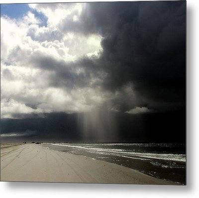 Hurricane Glimpse Metal Print by Karen Wiles
