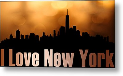 I Love New York Metal Print by Tommytechno Sweden