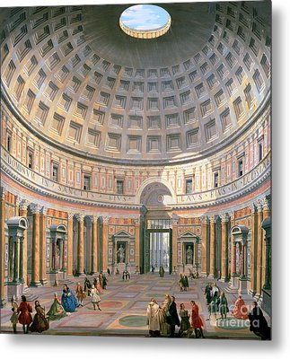 Interior Of The Pantheon Metal Print by Panini