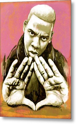 Jay-z Art Sketch Poster Metal Print by Kim Wang