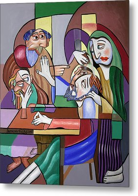 Jesus Anointed At Bethany Metal Print by Anthony Falbo