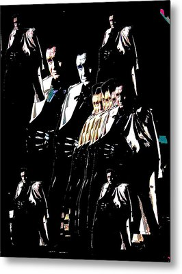 Metal Print featuring the photograph  Johnny Cash Multiplied  by David Lee Guss