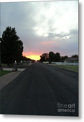 Metal Print featuring the photograph  Journey Into The Sunset by Carla Carson