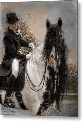 Drum Horse Dressage Metal Print by Fran J Scott