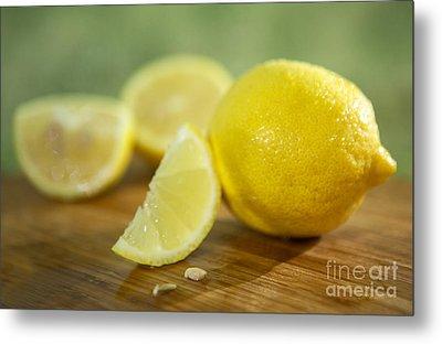 Lemon Citrus Limon Zitronen Metal Print by Iris Richardson