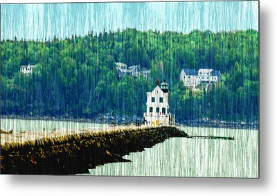 Light House Maine Metal Print by Will Burlingham