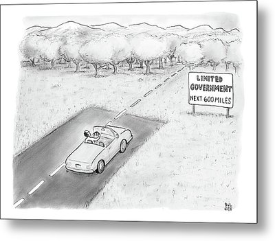 Limited Government Metal Print by Paul Noth