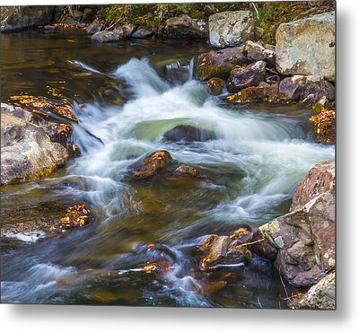 Metal Print featuring the photograph  Linville Falls  by Patricia Schaefer