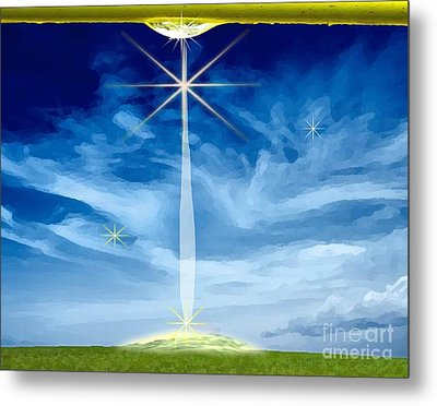 Little Drop Of Glory Metal Print by Belinda Threeths