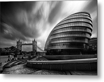 London City Hall And Tower Bridge.  Metal Print