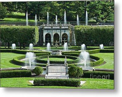 Longwood Gardens Fountains Metal Print by John Greim