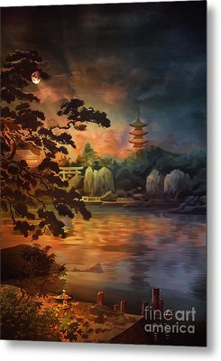 Magic Of Japanese Gardens. Metal Print