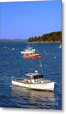 Maine Lobster Boat Metal Print by Olivier Le Queinec