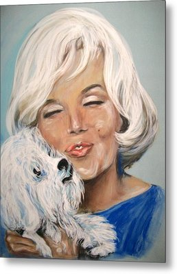 Marilyn And Maf Metal Print by Martha Suhocke