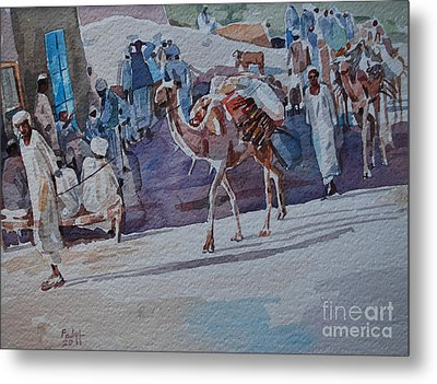 Market Metal Print by Mohamed Fadul