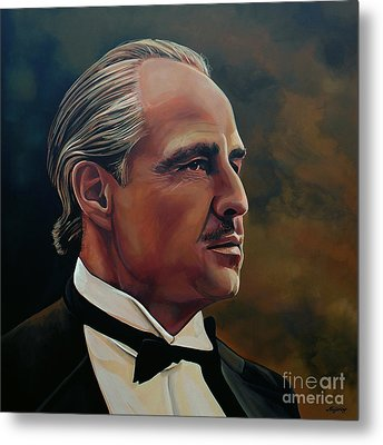 Marlon Brando Metal Print by Paul Meijering