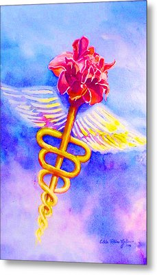 Medical Angel  Metal Print by Estela Robles