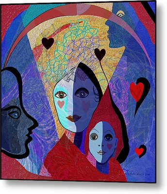 834 -  Mighty Mother  Metal Print by Irmgard Schoendorf Welch