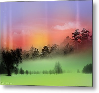 Mist Coloring Day Metal Print