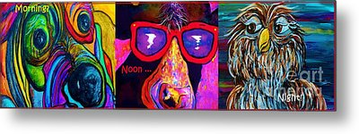 Morning Noon And Night Metal Print