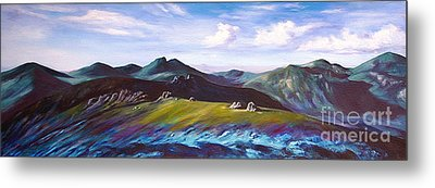 Mourne Mountains 1 Metal Print by Anne Marie ODriscoll