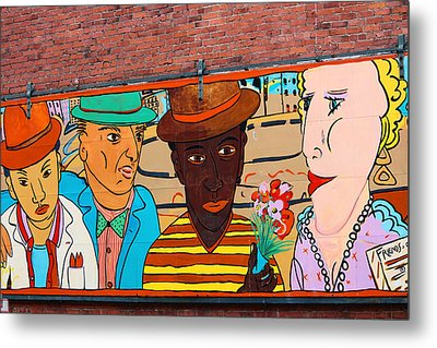 Mural Wall Art In Seattle Metal Print by Kym Backland