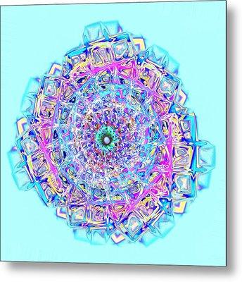 Murano Glass - Blue Metal Print