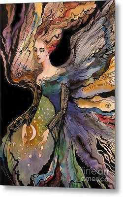 Metal Print featuring the painting  My Guardian Angel by Valentina Plishchina