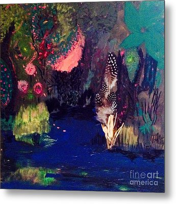 Metal Print featuring the painting  My Pond by Vanessa Palomino