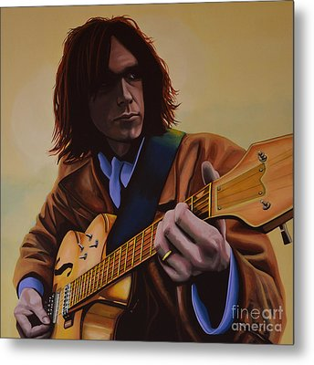Neil Young Painting Metal Print by Paul Meijering