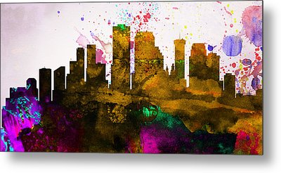 New Orleans City Skyline Metal Print by Naxart Studio