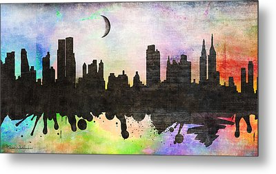 New York 6 Metal Print by Mark Ashkenazi