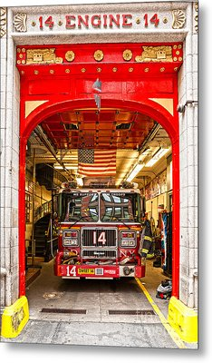 New York Fire Department Engine 14 Metal Print by Luciano Mortula