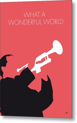No012 My Louis Armstrong Minimal Music Poster Metal Print by Chungkong Art