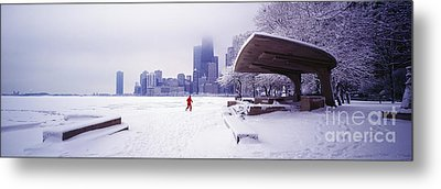 Metal Print featuring the photograph  North Ave Beach Chess Palv Chicago Lake Front  by Tom Jelen