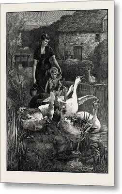 Obstructionists  From The Picture By Yeend King Metal Print by Litz Collection