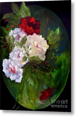 Of Rhapsodies And Roses Metal Print by Sharon Burger