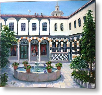 Metal Print featuring the painting  Old House In Damascus # 2 by Laila Awad Jamaleldin