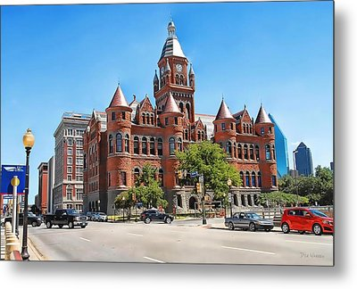 Metal Print featuring the photograph   Old Red Museum - Dallas  by Dyle   Warren