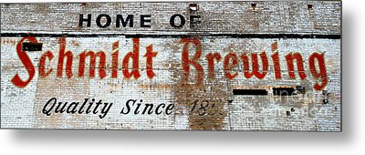 Old Schmidt Brewery  Metal Print