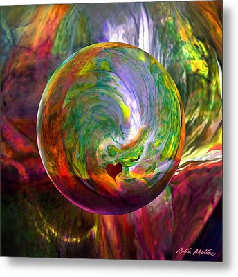 Orbing A Sea Of Love Metal Print by Robin Moline
