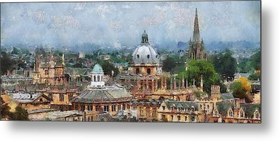 Oxford Panorama Metal Print