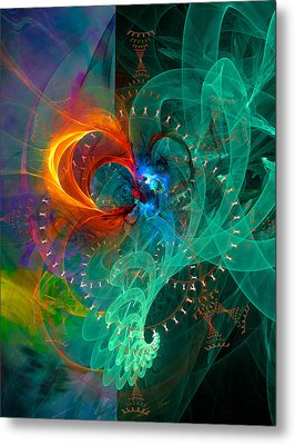 Parallel Reality - Colorful Digital Abstract Art Metal Print by Modern Art Prints
