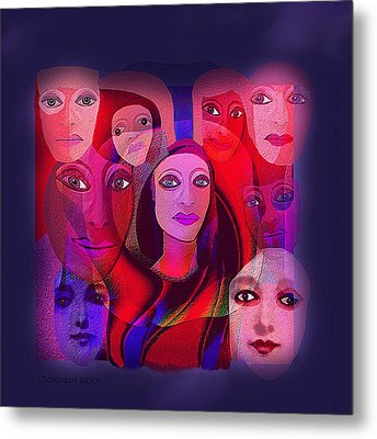 013 - Pink Shade Of Red  Metal Print by Irmgard Schoendorf Welch