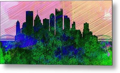 Pittsburgh City Skyline Metal Print