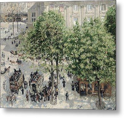 Place Du Theatre Francais Metal Print by Camille Pissarro