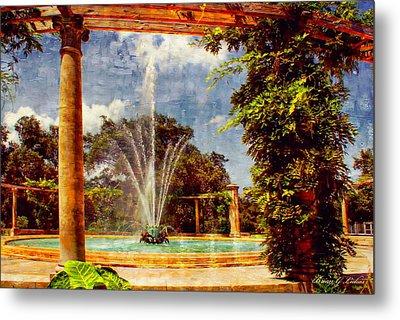 Pop's Fountain -  New Orleans City Park Metal Print