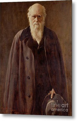 Portrait Of Charles Darwin Metal Print by John Collier